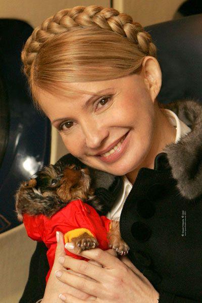 Юлия Тимошенко с собачкой