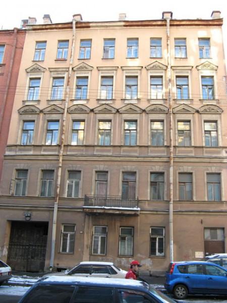 Фасад дома №21 по Тележной улице