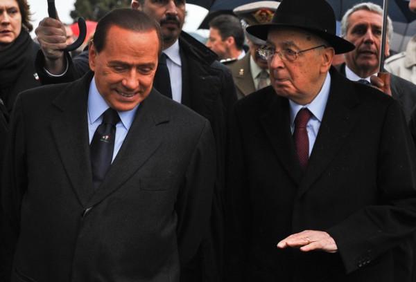 Бывший коммунист, президент Италии Джорджо Наполитано всегда находил общий язык c Сильвио Берлускони