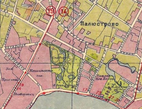 Полюстровская (Свердловская) набережная в первой половине ХХ века