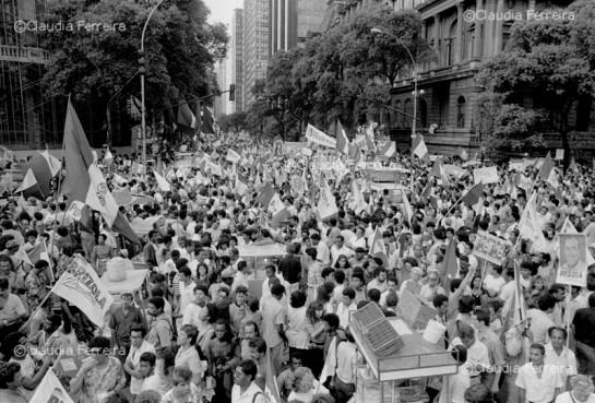 Демонстрация ДТП в Рио де Жанейро