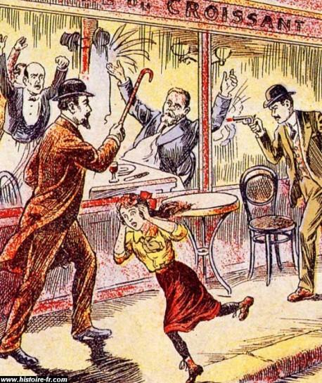 После убийства кафе, как третий выстрел, пронзил женский крик: «Они убили Жореса!» Жак Брель споёт в 1977 году о поколении «дедов»: «За что они убили Жореса?» «Они» — это все и никто, шовинистическая, буржуазная, клерикальная Франция
