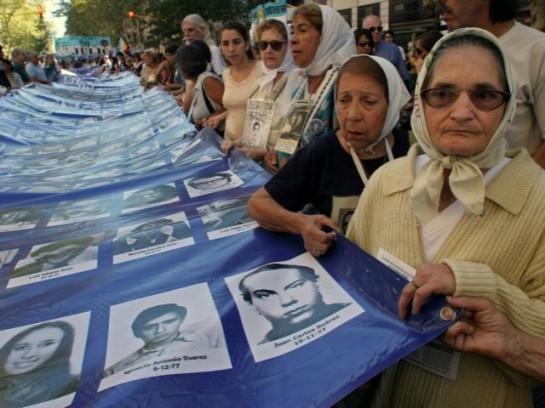 Манифестация матерей жертв военной хунты