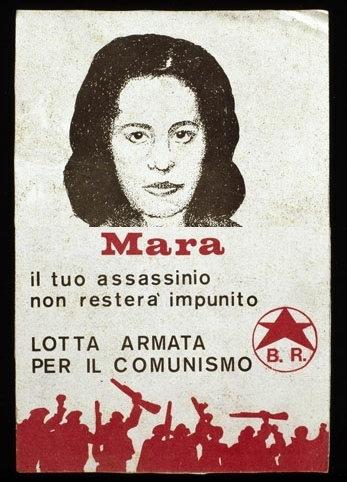 """Плакат бригадистов: """"Мара, твоё убийство не останется безнаказанным"""""""