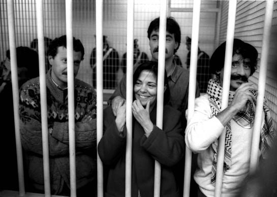 Барбара Бальцерани с товарищами на судебном процессе