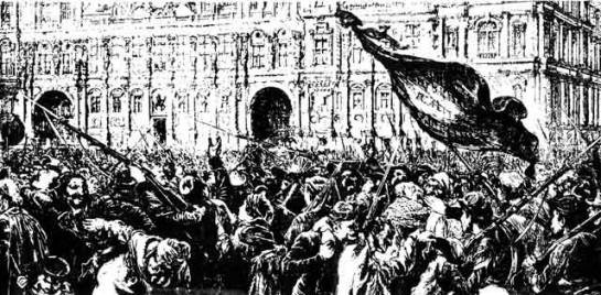 Когда в ночь с 17 на 18 марта солдаты Адольфа Тьера вошли в Париж, город проснулся. Как только парижане, жители Монмартра, увидели, что солдаты захватывают пушки, толпа окружила солдат. Началось братание