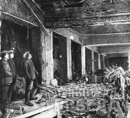 Так выглядел один из цехов завода «Электросила» после артобстрела