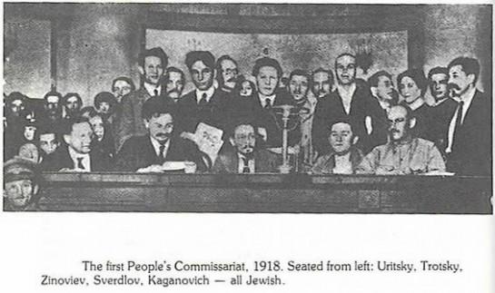 Движение к коммунизму воспринималось тогда, как наиболее радикальный вариант прогрессивного развития. Многие евреи захотели быть в авангарде борьбы за прогресс, несущий им равноправие и стали социалистами. На фото: Совет народных комиссаров, 1918 год