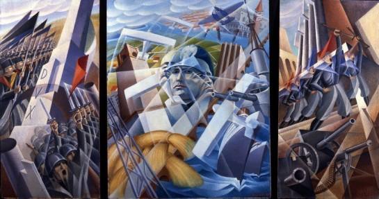 "Работа итальянского футуриста Alessandro Bruschetti ""Синтез фашизма"", 1935 год."