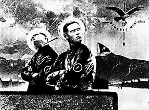 Чёрно-белые картины Александра Лебедева-Фронтова наполнены героикой, воинственной энергией и нигилизмом