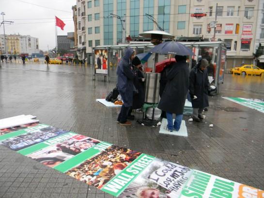 """Акция """"Оккупируй Таксим"""" в январе 2012 года"""