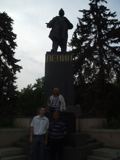 Турецкие коммунисты и автор статьи в Ростове-на-Дону. 2008 год