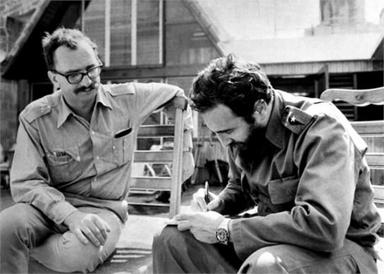 Ультралевый миллиардер, книгоиздатель Джанджакомо Фельтринелли с лидером Кубинской революции Фиделем Кастро