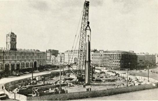 Возведение Обелиска в 1985-м