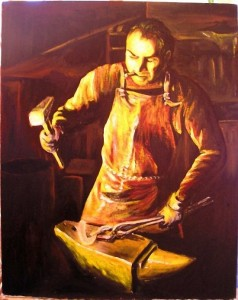 Кузница – первый завод человечества, а кузнец – первый пролетарий. Фигура кузнеца – архетип рабочего класса