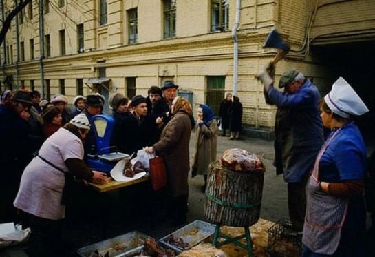 Дефицитные продукты в СССР можно было купить на рынке