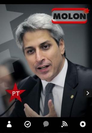 Алессандро Молон, университетский преподаватель истории, депутат Федерального конгресса Бразилии от Партии трудящихся (ПТ)