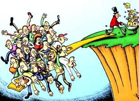 110 миллиардеров в нашей стране контролируют до 35 процентов богатств всех домохозяйств, в то время как в среднем в мире на их долю приходятся лишь один-два процента