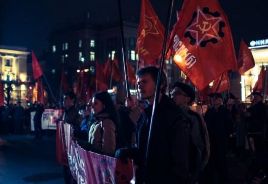 Партия «Рот-Фронт», «Коммунистическое движение Аврора», крайне левые организации и партия «Другая Россия» ограничились митингом у Финляндского вокзала