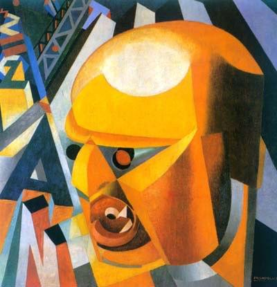 Филиппо Маринетти — за десятилетие до того, как он стал членом первого «Fascio» (ит. фашистское объединение) — заявил, что он «стоит на последнем рубеже столетий», и объявил о смерти Времени и Пространства. Портрет Маринетти