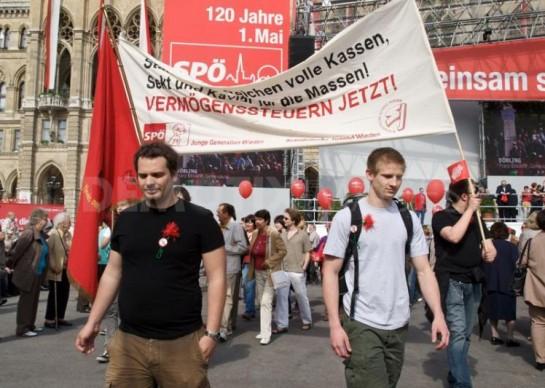 Первомайская демонстрация в Вене