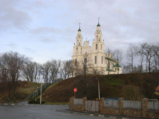 Вид на Софийский собор с берега Двины