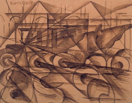 В условиях новой индустриализации первостепенное значение стоит уделить воссозданию единого энергохозяйства / Картина Джакомо Балла