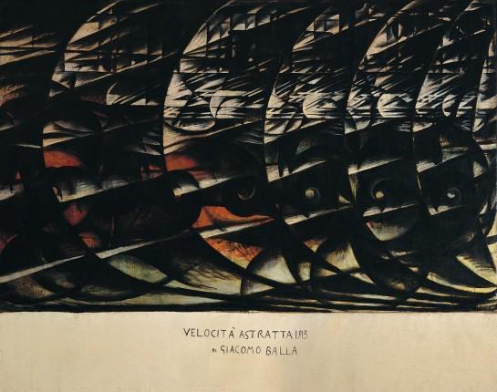 """«Мы уже живём в абсолюте, потому что мы создали вечную, вездесущую скорость», — возвещал Маринетти / Картиина Джакомо Балла """"Скорость"""" (1913)"""