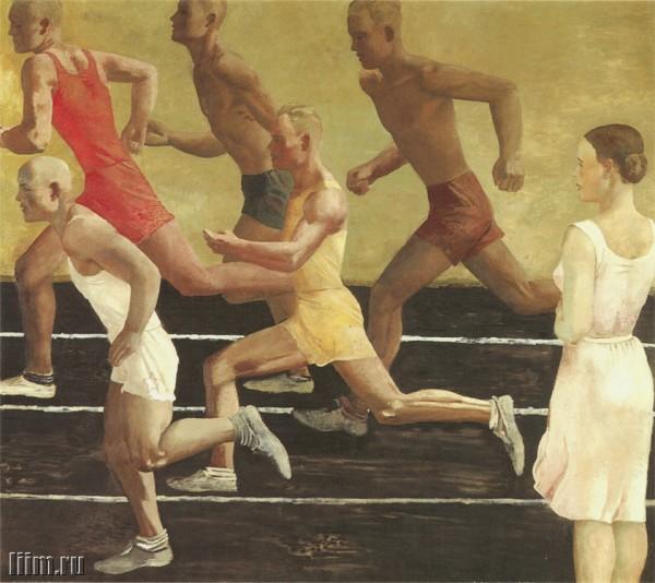 """""""Спорт - это самое близкое всем нам трансцендентное. Это очевидно выходящее за пределы функциональности поприще"""" / Картина Александра Дейнека """"Бег"""""""