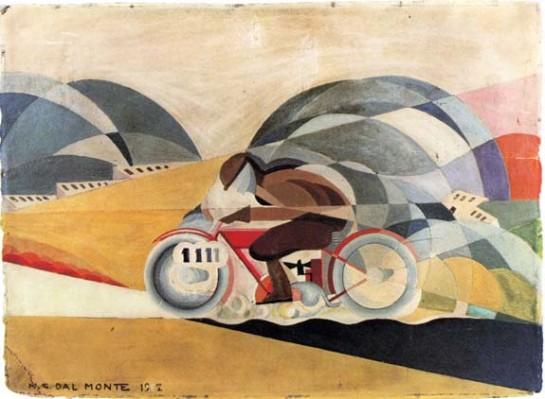 """""""На наших глазах рождается новый кентавр — человек на мотоцикле"""", - провозглашал Маринетти / картина Марио Гвидо дал Монте"""