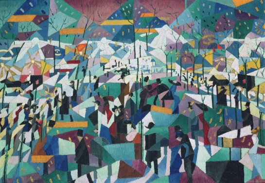 """Джино Северини (родился 7 апреля 1883 года), который показал футуристическое видение ночной жизни большого города / Джино Северени """"Городской бульвар"""""""