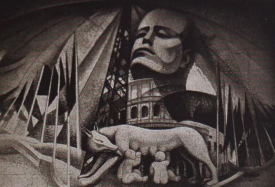 """Картина Джерардо Доттори (Gerardo Dottori) """"Город революции"""" (""""Le citta' della Rivoluzione"""")"""