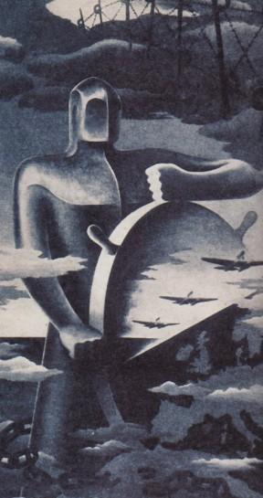 "Картина Эрнесто Таята (Ernesto Thayaht) ""Великий кормчий"" (""Il grande nocchiero"", 1939)"