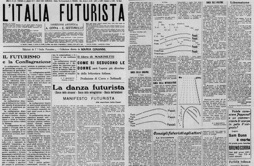 По окончании Великой войны появилась Политическая партия футуристов с Маринетти во главе