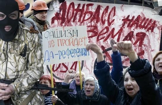 на Юго-Востоке складывается в значительной степени искусственно созданная напряжённость. Лучшим выходом из ситуации было бы сохранение всех этих территорий в составе Украины, и вовлечение максимального количества граждан в новаторское преобразование общества / Фото: STRAND MATS/Michal Burza/ZUMAPRESS.com