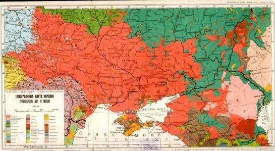 Когда рухнет РФ, перед Украиной откроется необычайный исторический шанс восстановить свою державу в прежнем размере и даже прирастить территории / Этническая карта Украины