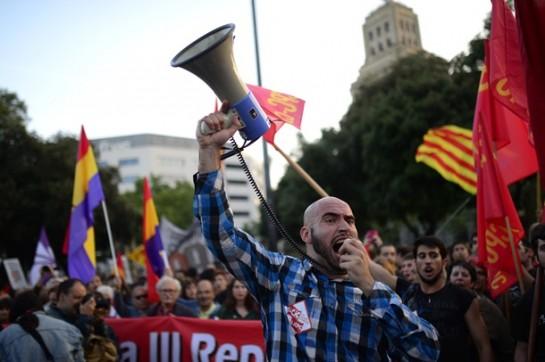 Самые крупные акции протеста состоялись в Мадриде и в Барселоне