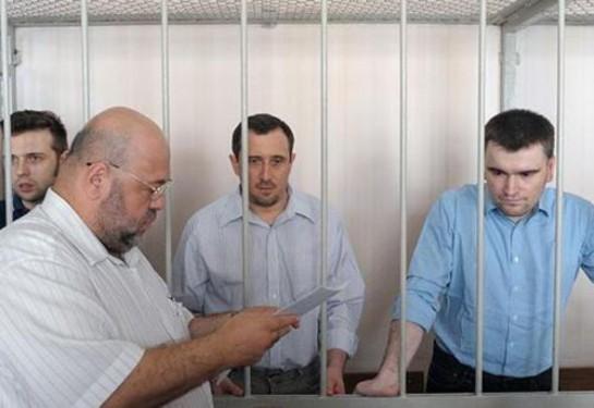 Алексей Гаскаров и Александр Марголин получили по 3,5 года колонии, Илья Гущин - 2,5 года, пенсионерка Елена Кохтарева получила три года и три месяца условно
