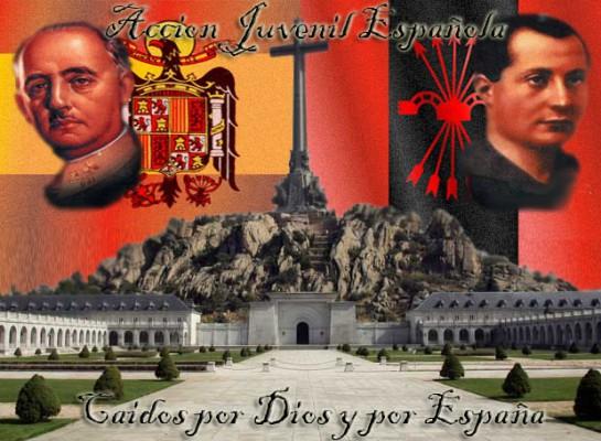 Миф о Франко как о католическом крестоносце мирно сосуществовал с мифом о нём как о фалангистском «хефе»