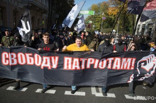 14 октября радикальные активисты пришли к зданию Верховной рады, чтобы потребовать законодательного признания Украинской повстанческой армии (УПА) воюющей стороной во второй мировой войне и освобождения политических заключённых