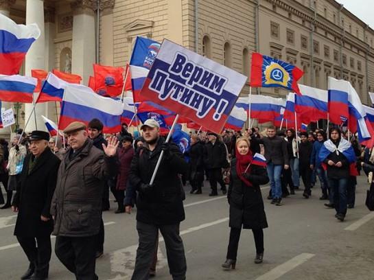 Значительная часть всерьёз убеждена, что стоящая за справедливость Москва противостоит одержимому корыстными планами Западу