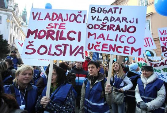 В ходе массовых по словенским меркам социальных выступлениях противников «шоковой терапии» и «строгой экономии» в стране выкристаллизовалось движение подлинно левой антилиберальной оппозиции