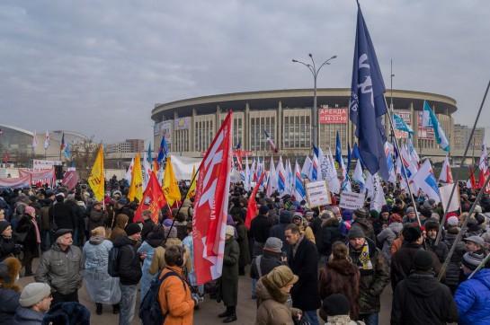 Полиция увидела полторы тысячи участников, точное число где-то по середине - пришло около 4-5 тысяч человек