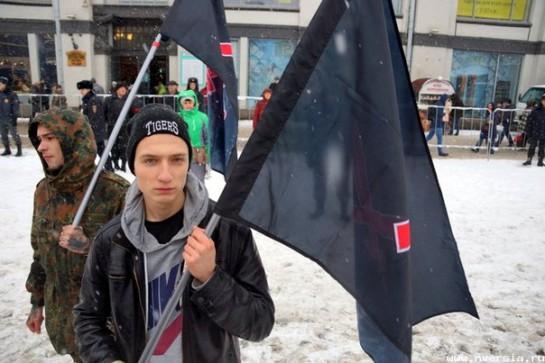 Активисты Национал-революционного блока на саратовском митинге объединённой оппозиции