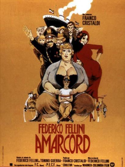 «Amarcord» Федерико Феллини - воспоминание о юношеских годах и сопутствующей молодости бесшабашности