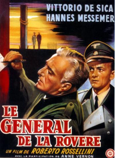 """В фильме Роберто Росселини, """"Il generale della Rovere"""" («Генерал делла Ровере», 1959) также отображает трусость и бессилие как главные аспекты павшего фашистского режима"""