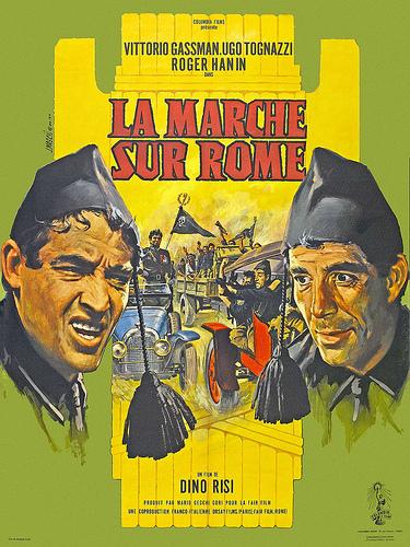 """Комедийные ленты затрагивали все этапы фашистского режима в Италии, не исключая и захват власти сквадристами. Пример тому комедия Дино Ризи """"La Marcia su Roma"""""""