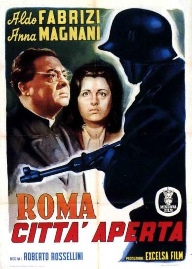"""Фильм Роберто Росселини """"Roma, città aperta"""" («Рим, открытый город», 1945) переносит неореалистский принцип «здесь и сейчас» в оккупированный немцами Рим"""