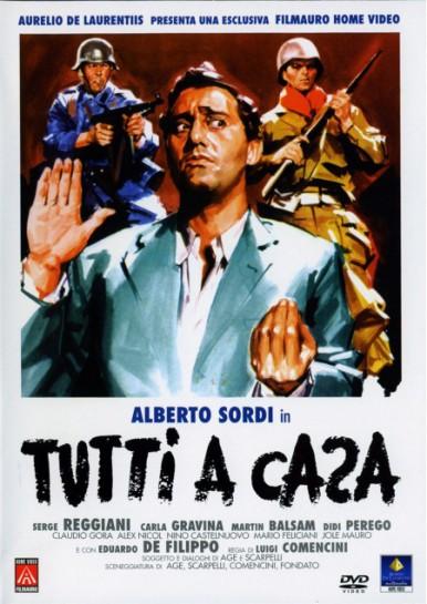 """Лента Луиджи Коменчини """"Tutti a casa"""" («Все по домам», 1960) и является одним из фильмов, изящно совместившим антивоенный протест и едкую иронию commedia all'italiana"""