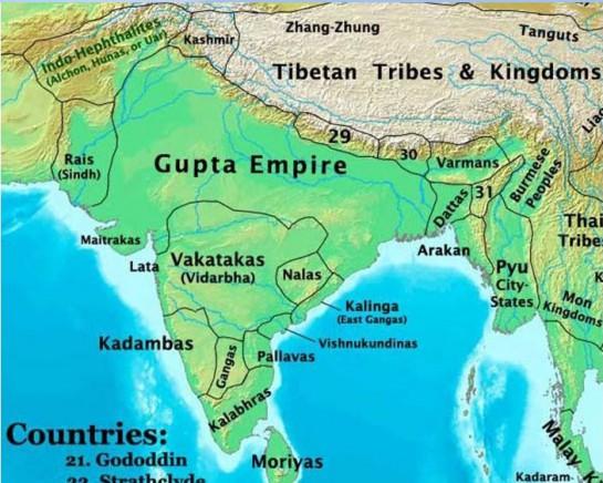 На этой карте расселения древних народов мира в Индии названия провинций-народов читаются так, будто изучаешь атлас Литвы! Сейчас они называются по-другому